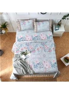 Flower Blooming Printing Lace 3-Piece Summer Sleeping Mat Sets