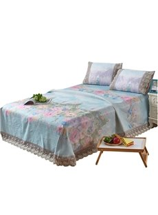 Flower Blooming Printing Soft 3-piece Summer Sleeping Mat Sets