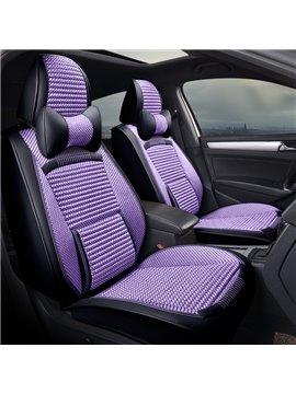 Handmade Knit Ergonomic Design Pure Color Universal Fit Car Seat Covers