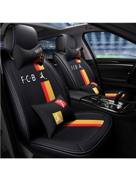 Soccer Style Five Seats Combination Type PU Material Universal Seat Covers