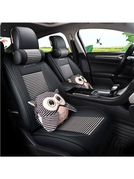 Cartoon Pattern PU Material Five Seats Type All Seasons Universal Seat Covers