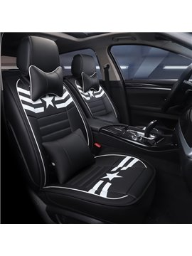 PU Material Five Seats Type Sport Style All Seasons Universal Seat Covers