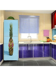Creative Pineapple Pattern Self Adhesive Removable Fridge Sticker