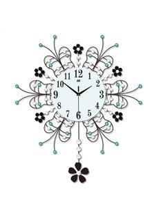 Irregular Pattern Stopwatch Movement Single Face Form Wall Clock