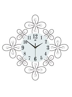 Irregular Pattern Single Face Form Needle&Digital Display Type Wall Clock