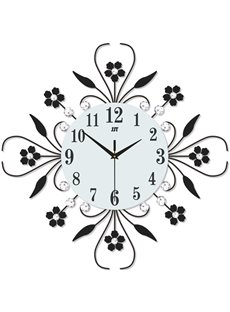 Stopwatch Movement Iron Art Material Single Face Form Wall Clock