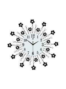 Irregular Pattern Needle&Digital Display Type Single Face Form Wall Clock