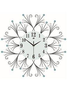 Irregular Pattern Needle&Digital Display Type Stopwatch Movement Wall Clock