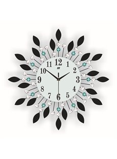 Irregular Pattern Stopwatch Movement Needle&Digital Type Wall Clock