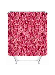 Petals Pattern Mildew Resistant Polyester Material Bathroom Shower Curtain
