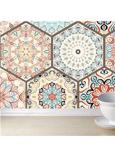 Self-Adhesive Silk Cloth Material Bohemian Style Waterproof Wall Murals