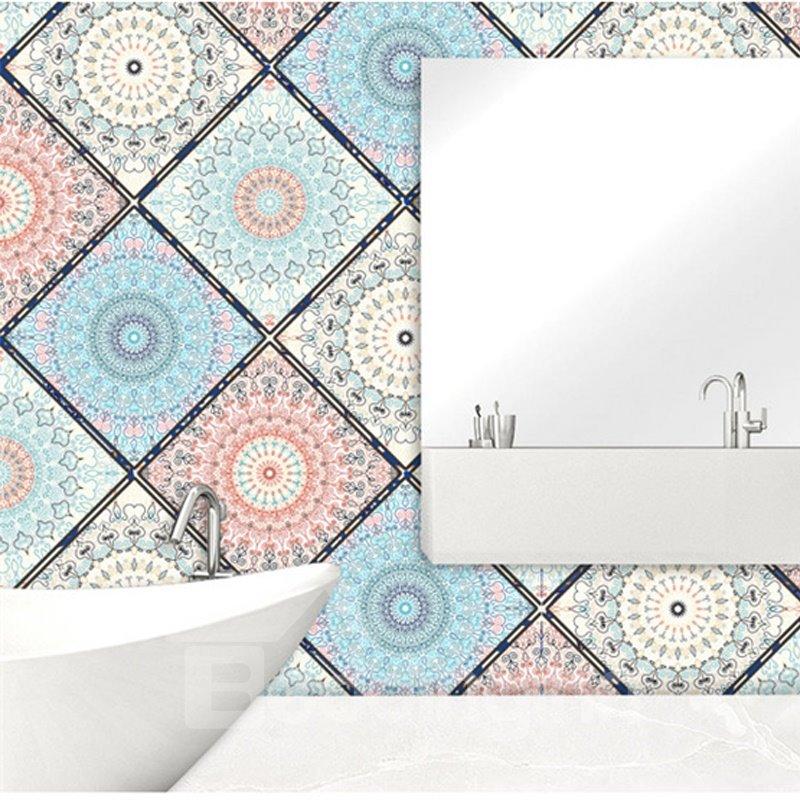 Silk Cloth Material Bohemian Style Self-Adhesive Wall Murals