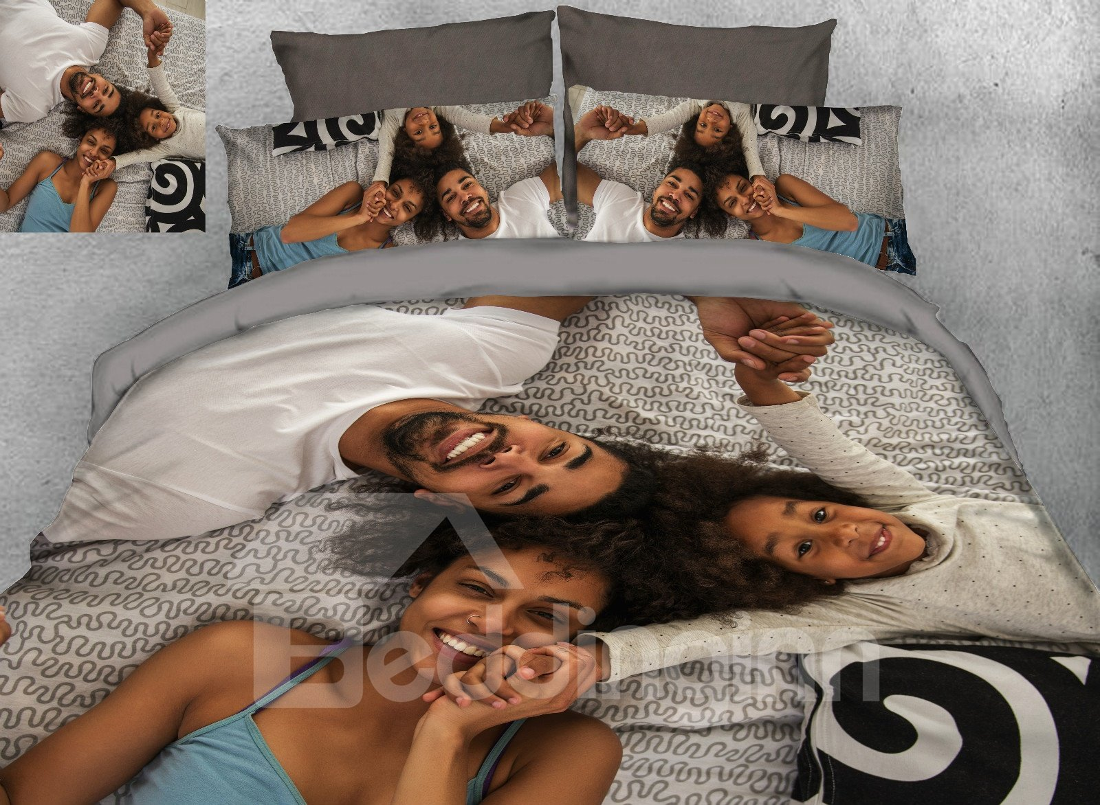Picture Customization Creative 4-Piece Bedding Sets/Duvet Covers