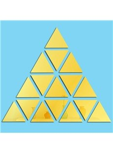 Triangle Geometric Pattern Acrylic Mirror Surface Wall Sticker