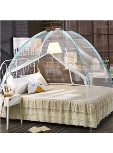 Free Installation Folding Polyester Two Openings Mongolian Yurt Bed Net