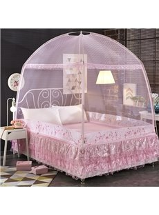 Folding Two Openings Free Installation Mongolian Yurt Bed Net