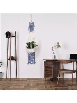 Beige Hand Weaving Bohemianism Style Tassels Cotton Decorative Tapestry