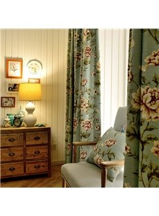 Plant Pattern Polyester Material Decorative Feature Jacquard Technics Curtain Sets