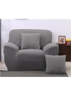 Simple Style Pure Color Pattern Slip Resistant Washable Sofa Cover