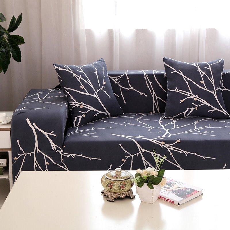Stunning European Style Tree Branch Pattern Slip Resistant Sofa Cover