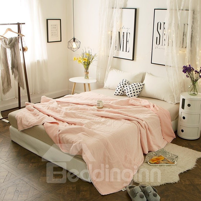 Pure Elegant Pink Simple Princess Style Cotton Air Conditioner Quilt Fascinating Bedroom Air Conditioners Style Interior