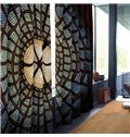 Blue Circles 3D 2 Slices Shading Modern Style Curtain