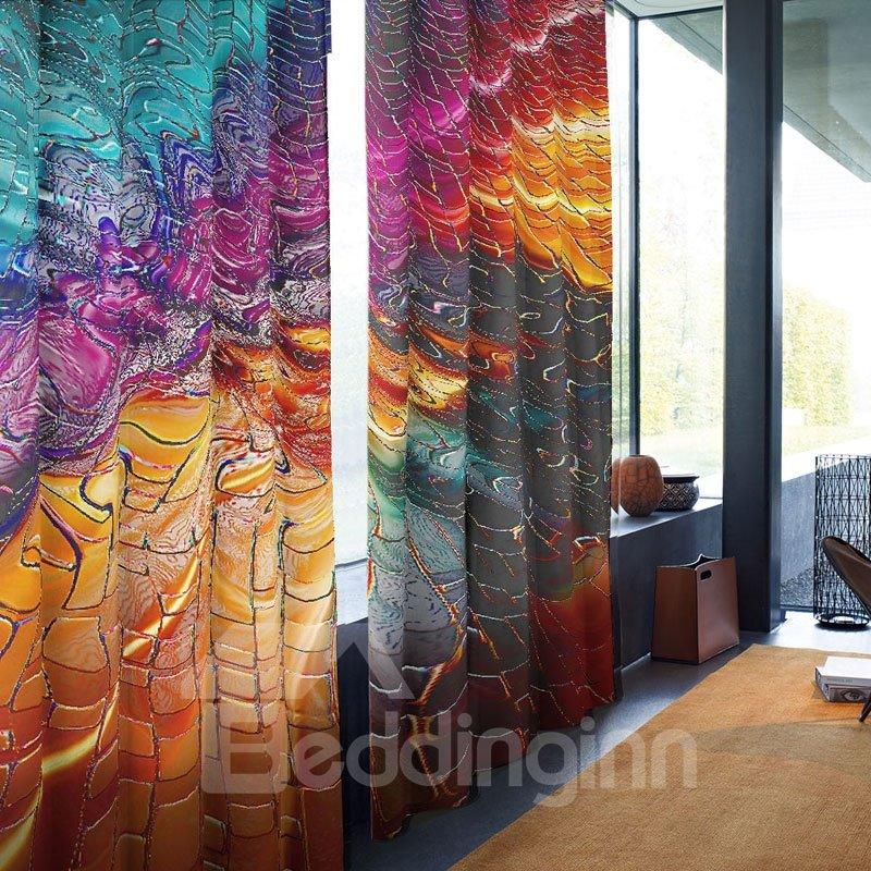 3D Modern Style Shading Cloth Decorative Curtain