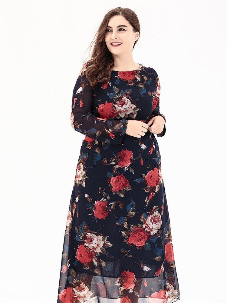 Ankle Length Plus Size Dresses