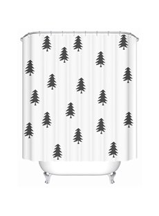 Trees Pattern Mildew Resistant Waterproof Polyester Material Shower Curtain
