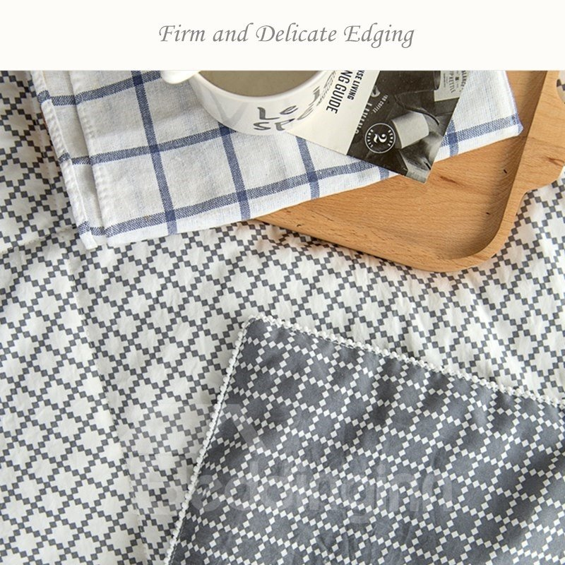 Gray Stripe Pattern The Cold Tune Style Polyester Summer Quilt