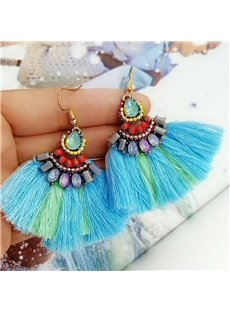 Crystal Female Diamante Technic Water Drop Earrings