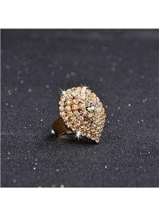 Christmas Heart Shape Female Alloy Diamante Technics Ring