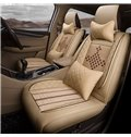 Chinese Knot Pattern All Seasons PU Leather Single Car Seat Covers