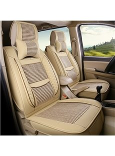 Simple Style All Seasons PU Leather Single Car Seat Covers