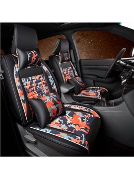 Disruptive Pattern PU Leather All Seasons Single Car Seat Covers