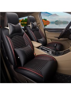 All Seasons PU Leather Simple Style Single Car Seat Covers