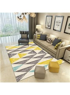 Geometric Pattern Machine Made Technics Modern Style Waterproof Area Rug