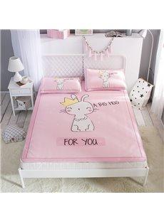 White Cat King Digital Printing Pink Cooling 3-Piece Summer Sleeping Mat Sets