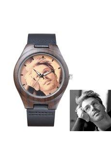 Ebony Dial&Watchband Steady Design Personalized Custom Quartz Watch