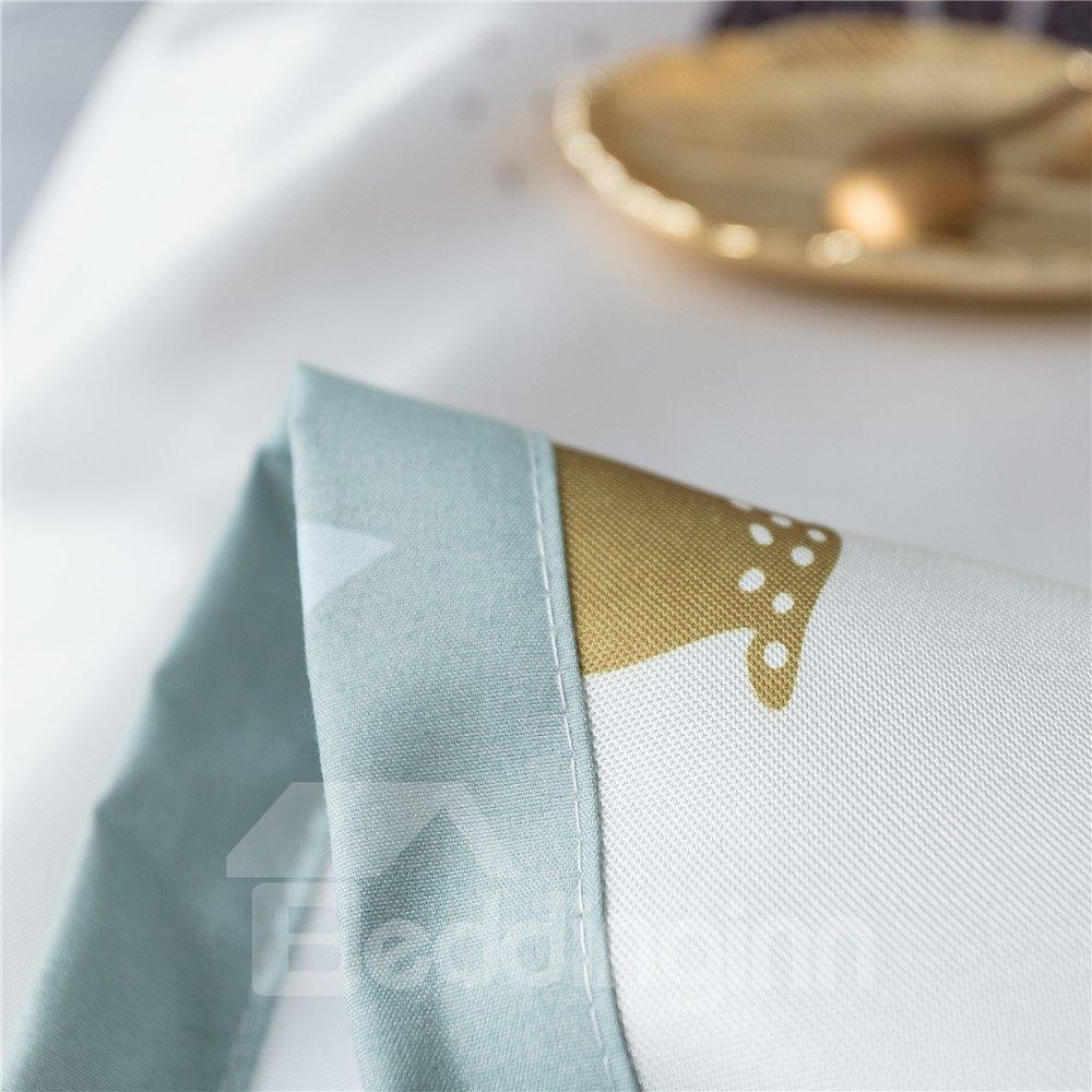 Nordic Elk Design Polyester Printing Ice Sheet 3-Piece Summer Sleeping Mat Sets