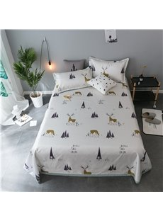 Nordic Elk Design Polyester Printing Ice Sheet 3-Piece Summer Sleeping Mat Sets