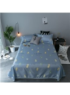 Pineapple and Cactus Cartoon Printing Cooling 3-Piece Summer Sleeping Mat Sets