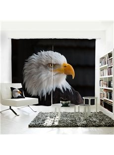 Bald Eagle Pattern 3D Animal Painted Shading Curtain