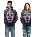 Lion Totem Realistic Unisex Pullover Workout 3D Painted Hoodie