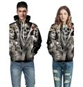 Cool Long Sleeve Skull King with Beauties 3D Painted Hoodie