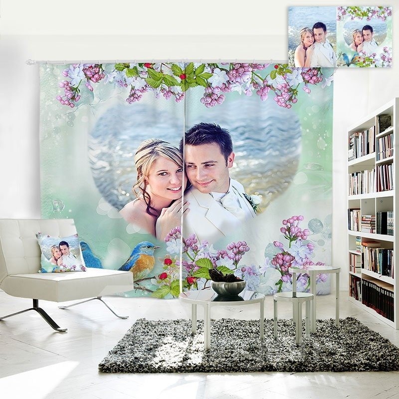 Personal Picture Customization 3D Polyester Creative Curtain
