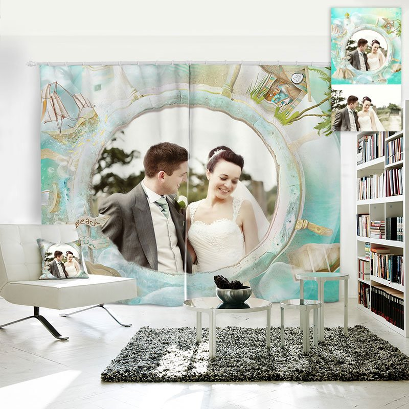 3D Personal Picture Customization Creative Polyester Curtain