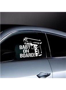 Cool Gun And Letter Pattern Waterproof Scratch Proof Car Sticker