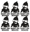 Cool Baby And Letter Pattern Waterproof Scratch Proof Car Sticker