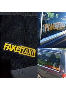 Yellow Letter Pattern Waterproof Scratch Resistant Car Sticker